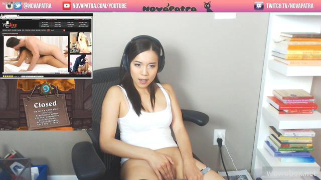 CB當紅亞裔主播(NovaPatra)自製情景性愛視訊輯 黑絲制服Solo雙飛肛交 野戰顏射吞精等~08